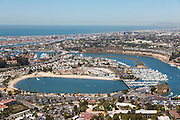 Newport Dunes Aerial Stock Photo