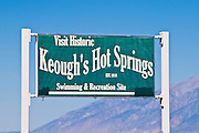 Keogh's Hot Springs on Highway 395 near Bishop, Owens Valley, California