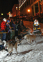 UP 200 Sled Dog Race, 2005, downtown, Marquette, Michigan