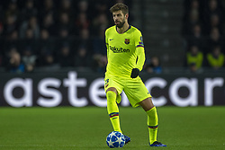 November 28, 2018 - Eindhoven, Netherlands - Gerard Pique of Barcelona with the ball during the UEFA Champions League Group B match between PSV Eindhoven and FC Barcelona at Philips Stadium in Eindhoven, Netherlands on November 28, 2018  (Credit Image: © Andrew Surma/NurPhoto via ZUMA Press)