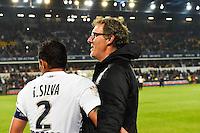 Joie PSG Champion - Thiago SILVA / Laurent BLANC - 16.05.2015 - Montpellier / Paris Saint Germain - 37eme journee de Ligue 1<br />Photo : Alexandre Dimou / Icon Sport