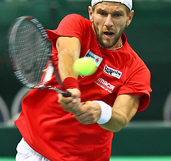 06.02.2012, Arena Nova, Wr. Neustadt, AUT, Davis Cup, Oesterreich vs Russland, Freie Training, im Bild Jürgen Melzer, AUT // Jürgen Melzer, AUT during the free Training Davis Cup Austria vs Russia at the Match at the Arena Nova, Vienna Neustadt, Austria 2012/02/06 . EXPA Pictures © 2012, PhotoCredit: EXPA/ Stephan Woldron