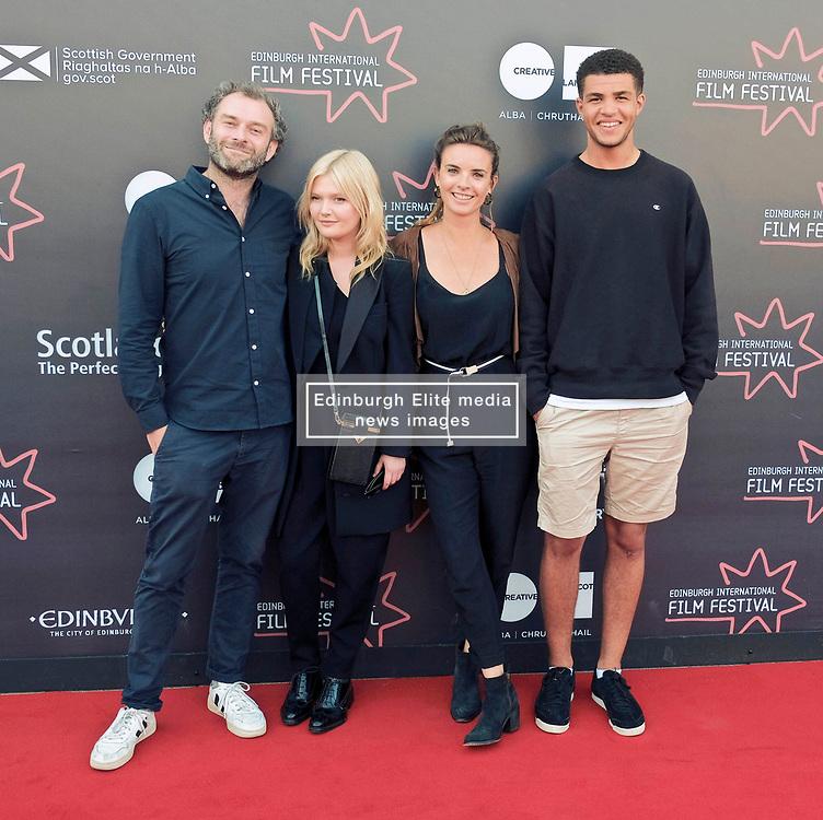 Edinburgh International Film Festival, Wednesday, 27th June 2018<br /> <br /> OBEY (UK PREMIERE)<br /> <br /> Pictured:  Director Jamie Jones, Sophie Kennedy Clark, producer Emily Jones and Marcus Rutherford <br /> <br /> (c) Alex Todd | Edinburgh Elite media
