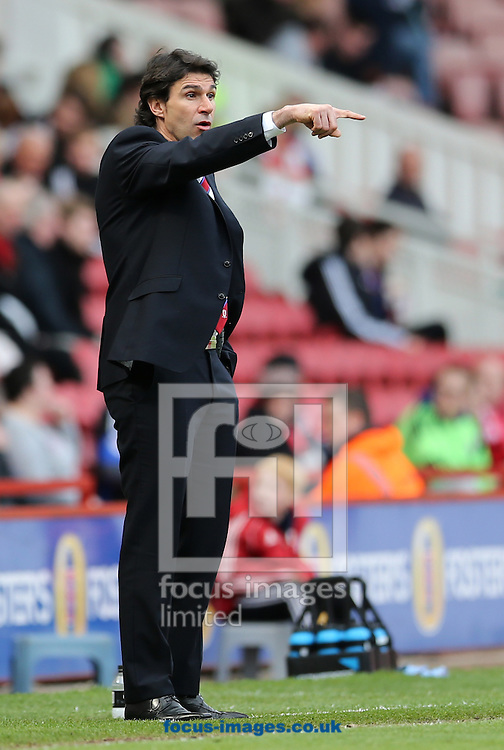 Middlesbrough manager Aitor Karanka during the Sky Bet Championship match at the Riverside Stadium, Middlesbrough<br /> Picture by Simon Moore/Focus Images Ltd 07807 671782<br /> 26/04/2014