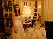 Bee Shaffer and Kari Schlegel, Crillon 2004 Debutante Ball. Crillon Hotel. Paris. 26 November 2004. ONE TIME USE ONLY - DO NOT ARCHIVE  © Copyright Photograph by Dafydd Jones 66 Stockwell Park Rd. London SW9 0DA Tel 020 7733 0108 www.dafjones.com