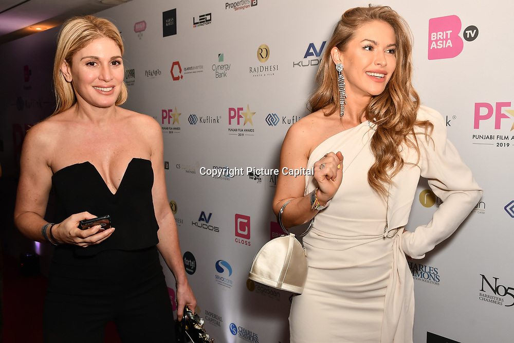 Hofit Golan and Maja Malnar attend the BritAsiaTV Presents Kuflink Punjabi Film Awards 2019 at Grosvenor House, Park Lane, London,United Kingdom. 30 March 2019
