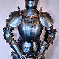 Ornate Suit of Armor in Vianden, Luxembourg <br />