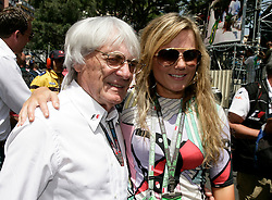 MONTE-CARLO, MONACO - Sunday, May 24, 2009: British singer Geri Halliwell, formerly of all-girl pop band Spice Girls, with Bernie Ecclestone (ENG, president and CEO of Formula One Management and Formula One Administration) during the Monaco Formula One Grand Prix at the Monte-Carlo Circuit. (Pic by Juergen Tap/Hoch Zwei/Propaganda)