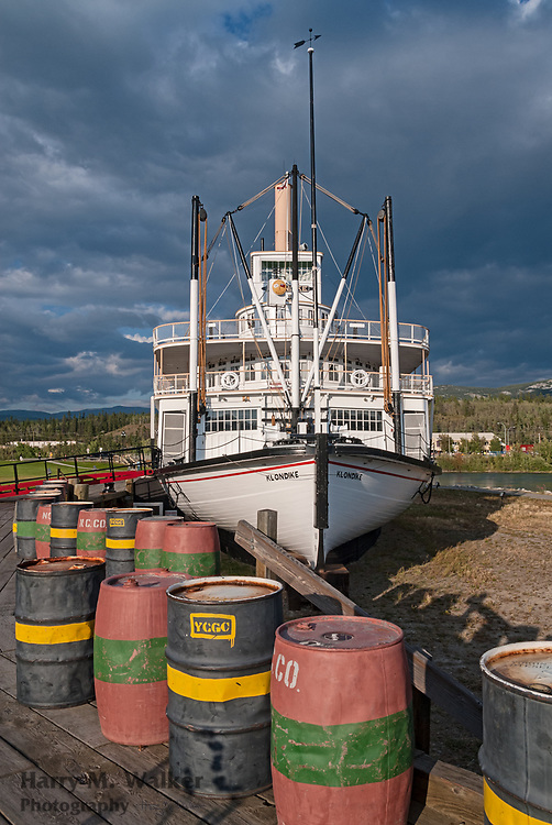 The S.S. Klondike was the largest of the British Yukon Navigation (BYN) Company  fleet. Originally built in 1929, she sank in 1936, was rebuilt and launched in the spring of 1937.  Restored to original 1937-40 appearance.