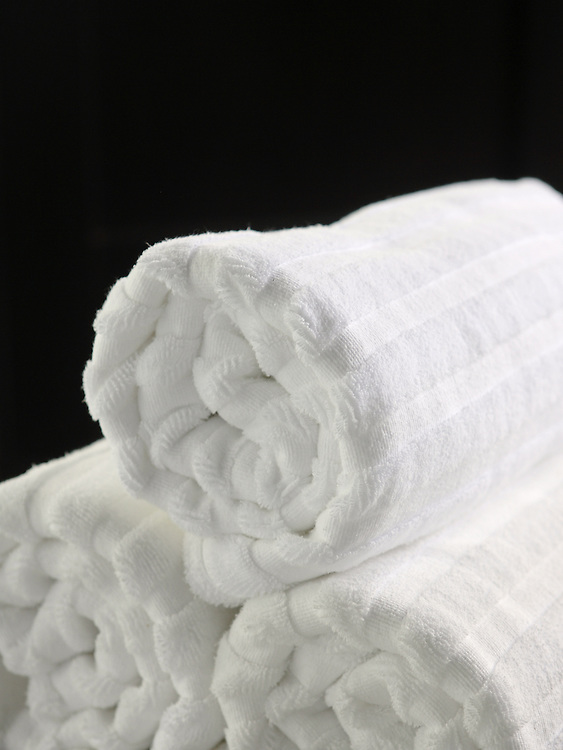 Towels in the spa at the Nam Hai luxury resort in Danang, Vietnam.