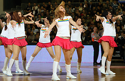 Zmajcice - dance group during second semi-final match of Basketball NLB League at Final four tournament between KK Partizan Igokea, Beograd, Serbia and Union Olimpija, Ljubljana, Slovenia, on April 25, 2008, in Arena Tivoli in Ljubljana. Match was won by Partizan 94:90. (Photo by Vid Ponikvar / Sportal Images)