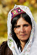 Woman in mountain village of Altit in Hunza region of Karokoram Mountains, North Pakistan