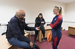 November 12, 2018 - Glasgow, Scotland - Glasgow, Scotland - November 12, 2018:  The USWNT trains in preparation for an international friendly against Scotland at St Mirren Park. (Credit Image: © Brad Smith/ISIPhotos via ZUMA Wire)