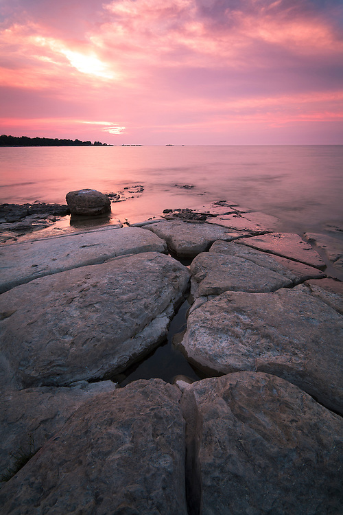 Sunset collection from the shores of Lake Huron in Southern Ontario, July 2012