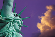 Image of the Statue of Liberty on Liberty Island in New York Harbor, New York City, New York (photo-illustration)