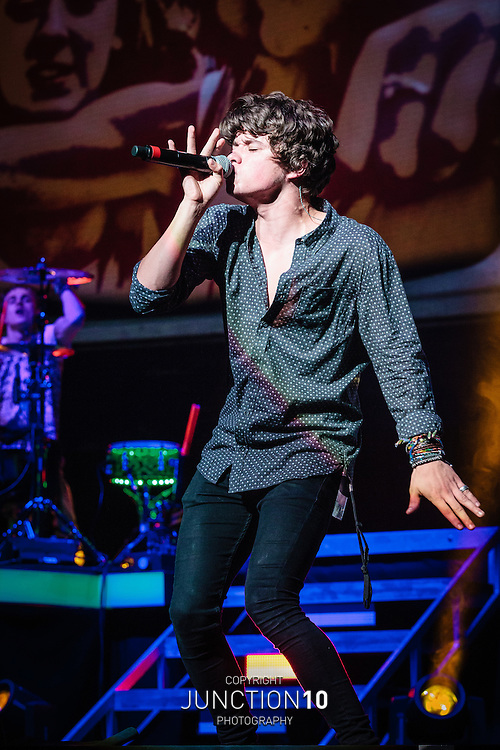 The Vamps in concert at the NIA, Birmingham, United Kingdom<br /> Picture Date: 5 October, 2014