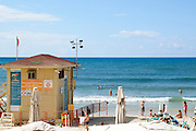 Sunny winter's day on Gordon Beach, Tel Aviv, Israel