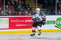 KELOWNA, CANADA - JANUARY 30: Kyle Topping #24 of the Kelowna Rockets skates against the Seattle Thunderbirds  on January 30, 2019 at Prospera Place in Kelowna, British Columbia, Canada.  (Photo by Marissa Baecker/Shoot the Breeze)