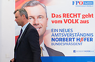Austrian far right Freedom Party (FPÖ) presidential candidate and front runner Norbert Hofer during the party's press conference prior to the second round ballot of the Austrian Presidential Elections (on 22/5/16) in Vienna, Austria.<br /> Picture by EXPA Pictures/Focus Images Ltd 07814482222<br /> 29/04/2016<br /> <br /> ***UK & IRELAND ONLY***<br /> <br /> EXPA-GRU-160429-0130.jpg