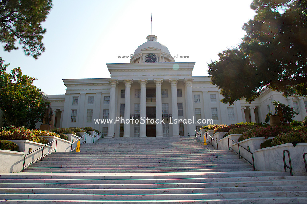 The Alabama state capitol building Montgomery, AL, USA