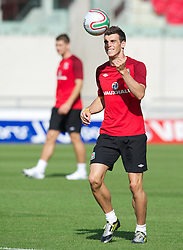 LLANELLI, WALES - Tuesday, August 14, 2012: Wales' Gareth Bale during a training session at Parc y Scarlets ahead of the international friendly match against Bosnia-Herzegovina. (Pic by David Rawcliffe/Propaganda)