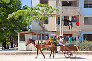 Horse and cart in Bocas, Holguin, Cuba.