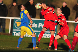 BRETT SOLKHON  KETTERING TOWN Kettering Town FC v Kings Lynn Town FC Evo stk Southern Premier League, Latimer Park Monday New Years Day 1st January 2018.<br /> Photo:Mike Capps, Score 1-0 (Aaron O'Connor) Kettering go top of Table