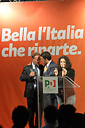 IL Presidente del Consiglio Matteo Renzi a Trento per la campagna elettorale del maggio 2015 del Sindaco Alessandro Andreatta candidato PD 5 maggio 2015 © foto  DANIELE MOSNA