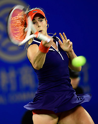 WUHAN,  Sept. 28,  2017 Alize Cornet of France returns the ball during the singles quarterfinal match against Maria Sakkari of Greece at 2017 WTA Wuhan Open in Wuhan, capital of central China's Hubei Province, on Sept. 28, 2017. Alize Cornet lost 0-2.  wdz) (Credit Image: © Xiong Qi/Xinhua via ZUMA Wire)