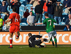 DUBLIN, REPUBLIC OF IRELAND - Saturday, March 24, 2007: Wales' goalkeeper Danny Coyne is beaten as Republic of Ireland's Stephen Ireland scores the opening goal during the UEFA European Championships 2008 Group D qualifying match at Croke Park. (Pic by David Rawcliffe/Propaganda)