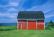 Red barn by the sea<br /> Port Hood<br /> Nova Scotia<br /> Canada