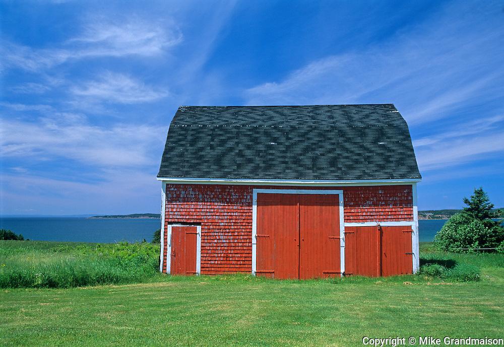 Red barn by the sea<br /> Port Hood<br /> Nova Scotia<br /> Canada