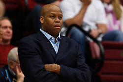 Feb 16, 2012; Stanford CA, USA; Oregon State Beavers head coach Craig Robinson on the sidelines against the Stanford Cardinal during the first half at Maples Pavilion.  Mandatory Credit: Jason O. Watson-US PRESSWIRE