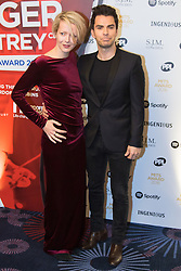 Grosvenor House Hotel, London, November 7th 2016. Luminaries from the music industry gather at the Grosvenor House Hotel for the Music Industry Awards, where this year The Who's Roger Daltrey CBE is honored with the 25th annual MITS award in support of Nordoff Robbins and The BRIT Trust. PICTURED: Stereophonics frontman Kelly Jones and Jakki Healy