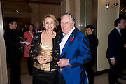 SIR FREDERICK FORSYTH; LADY FORSYTH, Book launch of Lady Annabel Goldsmith's third book, No Invitation Required. Claridges's. London. 11 November 2009