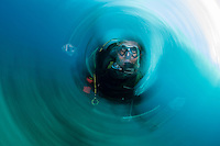 A Happy Diver, blurred<br /> <br /> Shot in Indonesia