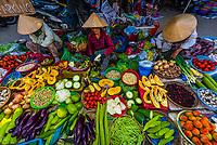Produce market, Hoi An, central Vietnam.