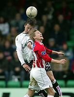 Fotball, 26. april 2003, Tippeligaen, Sogndal-Tromsø 3-1. Steinar Nilsen, Tromsø, og Anders Stadheim, Sogndal