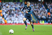 Real Madrid's Gareth Bale on the ball during the Champions League match between Manchester City and Real Madrid at the Etihad Stadium, Manchester, England on 26 April 2016. Photo by Shane Healey.