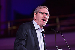 © Licensed to London News Pictures. 02/11/2015. London, UK. General secretary of Unite, LEN MCCLUSKEY, speaks at a rally against the Trade Union Bill and the right to strike in Westminster, London. Photo credit : Vickie Flores/LNP