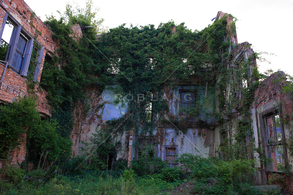 shell of an abandoned building in South Carolina