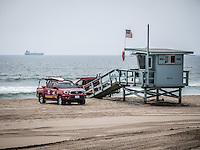 LA beach lifeguard post.