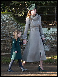 December 25, 2019, Sandringham, United Kingdom: CATHERINE, the Duchess of Cambridge, with PRINCESS CHARLOTTE, as they leave the Christmas Day church service at Sandringham in Norfolk, United Kingdom. (Credit Image: © Stephen Lock/i-Images via ZUMA Press)