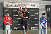 Richard Verschoor wins the NZ Motor Cup at Round 3 of the 2018 Castrol Toyota Racing Series at Hampton Downs, Sunday January 28, 2018. 2nd was Marcus Armstrong (left) and 3rd, Robert Shwartzman (right)..<br /> Copyright photo: Bruce Jenkins / www.photosport.nz