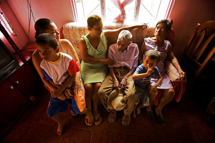 Emphasizing Family -- Centenarians tend to live as a couple, with children or grandchildren from whom they get support.