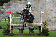 Ryuzo Kitajima (JPN) riding Feroza Nieuwmoed during the International Horse Trials at Chatsworth, Bakewell, United Kingdom on 12 May 2018. Picture by George Franks.