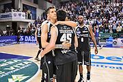 DESCRIZIONE : Campionato 2014/15 Dinamo Banco di Sardegna Sassari - Dolomiti Energia Aquila Trento Playoff Quarti di Finale Gara4<br /> GIOCATORE : Diego Flaccadori Marco Spanghero<br /> CATEGORIA : Fair Play Ritratto Delusione Postgame<br /> SQUADRA : Dolomiti Energia Aquila Trento<br /> EVENTO : LegaBasket Serie A Beko 2014/2015 Playoff Quarti di Finale Gara4<br /> GARA : Dinamo Banco di Sardegna Sassari - Dolomiti Energia Aquila Trento Gara4<br /> DATA : 24/05/2015<br /> SPORT : Pallacanestro <br /> AUTORE : Agenzia Ciamillo-Castoria/L.Canu
