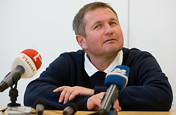 Head coach of Slovenian football national team Matjaz Kek at press conference a day before 2010 FIFA Qualification match between San Marino and Slovenia, on October 13, 2009, in Serravalle Stadium, San Marino.  (Photo by Vid Ponikvar / Sportida)