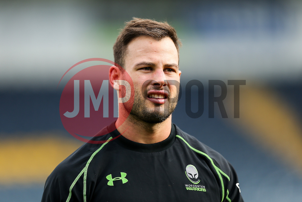 Francois Hougaard looks on as Worcester's First Team train on the pitch before the Academy Finals get underway - Rogan Thomson/JMP - 16/02/2017 - RUGBY UNION - Sixways Stadium - Worcester, England - Worcester Warriors U18 v Saracens U18 - Premiership Rugby Under 18 Academy Finals Day 5th Place Play-Off.