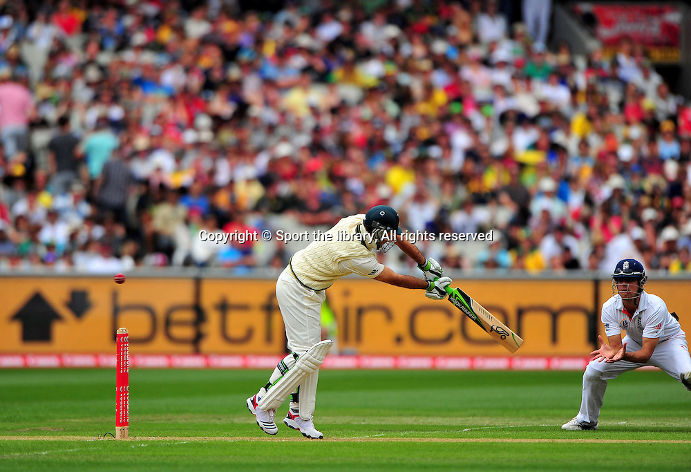 Ricky Ponting (AUS) edges out<br /> Australia vs England<br /> Cricket - Ashes Test 3 / Melbourne<br /> Melbourne Cricket Ground / MCG<br /> Sunday 26 December 2010<br /> &copy; Sport the library/Jeff Crow